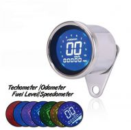Speedo & Revcounter. 60mm digital display KM/H Chrome or black