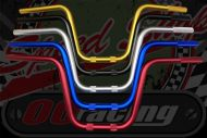 """Handlebar. Suitable for  use with Gorilla style bikes. ALLOY choice of colours 7/8"""" (22mm) x 225mm rise."""
