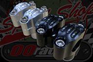 """Handlebars. Clamp. Riser. 21mm rise. CNC 7/8"""" 22mm bars"""