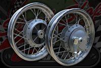 """Wheel pit bike 12"""" x 2"""" wide 12mm axle Drum brake 110mm drum"""