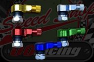 Tyre valve CNC bolt in tight 90 degree colours