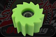 Chain. Roller M8 38mm O/D Green ABS Dual sealed bearings.