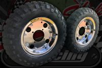 """Wheel kit. 8"""" Great upgrade with Golden Boy tyres. Over size rear."""