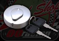 Fuel cap. 30mm neck. Chrome. O.E locking style. Suitable for use with Monkey and Mini trail
