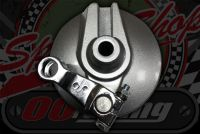 Brake. Plate front assembly with shoes, cam & short arm suitable for front drum monkey