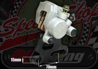 Caliper rear large 31mm piston single pot with sinterd race pads