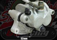 Caliper front twin pot one side slider 2 x 25mm pistons cast alloy bracket