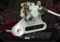 Rear brake kit single pot with cast extra long adjuster bracket
