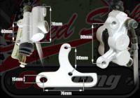 Rear brake kit Powerful 4 pot system 180/190mm disc size