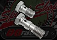 Banjo bolt. Stainless steel. Single or double. M10 x 1.00 or 1.25 pitch