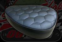 Seat. Cub 12V. Honeycomb stitching. Black.