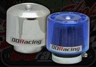 Air filter. 35mm - 38mm. K&N style. Enclosed wet weather. Choice of see through blue or Chrome