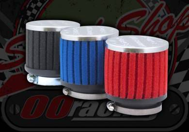 Air filter. Choice of 35mm, 38mm, 42mm, 46mm or 50mm. FORCE induction.  R11. BLACK, RED, BLUE
