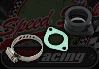 Manifold. Component. Carb rubber. Flanged. 35mm push fit. 27mm choke. 48mm bolt centers. VM24 or VM26mm. Mikuni