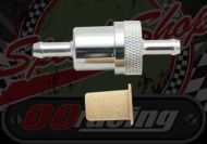 Filter. Fuel. In-line. CNC alloy. Brass filter. 7-8mm hose fitting