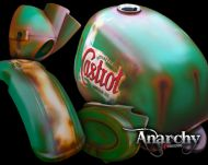Body Kit. Suitable for Gorilla or Monkey style bikes. Retro Rust look hand Air brushed. Work by