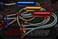 Full CNC oil condenser kit Braided hoses Honda screw in tappet cover