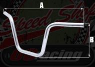 "Handlebars. Bars. Gorilla style. 7/8"" (22mm) pre drilled, Clamp area centers 100mm"