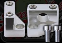 Handlebars. Clamp. Riser. 30mm rise. CNC. Billet alloy. Instep type. 7/8th or 22mm bars. 10mm top yoke bolts