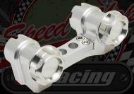Handlebars. Clamp. CNC. Billet alloy. Suitable for use with Monkey or Dax