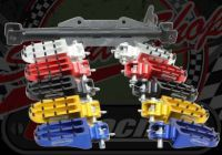 Footrest. Foot pegs with hanger kit. XR range for wide engine covers
