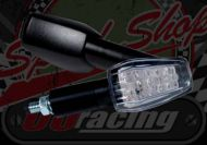 Flasher longer stem black 12v LED