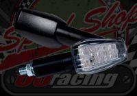 Flasher longer stem black 12v LED