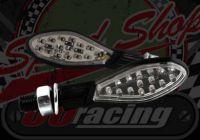 Flasher thin paddle black 12v LED