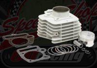Cylinder kit. 57.0mm bore. 2 Valve. Ceramic coated. Big valve heads 27/23mm