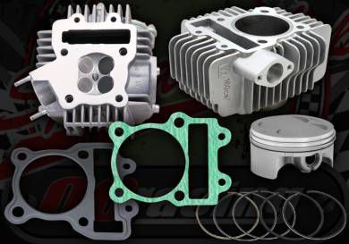 4 Valve conversion kit YX 150 & 160 62mm cylinder from 23 to 27bhp options