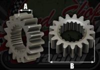 Oil pump drive gear. YX engines; all models