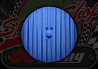 Cam wheel cover CNC blue small type 72mm