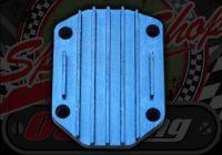 Head plate. CNC Blue. Big stud pattern 7mm. YX125-149, Lifan 125-150
