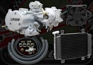 Engine. 125cc. 2 Valve. Lifan. Liquid Cooled. 4 speed. Semi automatic