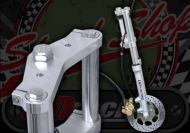 Fork kit. Wide glide 31mm Tele fork kit 220mm disc twin pot caliper 600mm legs