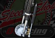 Fork damper kit for springer forks transforms the ride.