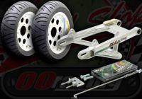 "Wheel conversion kit. 10"" with Girder under brace arm +8cm or + 13cm Choice on chain"