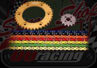 Chain and sprocket kit. 428 pitch. Choice of colours & sizes. Suitable for MadAss 125 & the late 50cc bikes