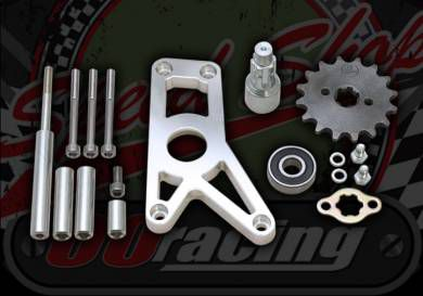 Sprocket kit. 420 pitch. 17mm spline. OUT RIGGER SET. 30mm Offset