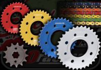 Chain and sprocket kit. 428 pitch. Suitable for ACE 125. Talon rear sprocket