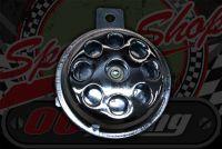 Horn. Chrome 12V multi hole front basic range 65mm