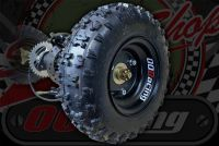 """Rear quad Axle complete 6"""" wheels for project build up to 125cc"""