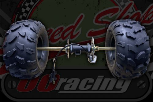 """Rear quad Axle complete BIG 8"""" wheels for project build up to 300cc"""