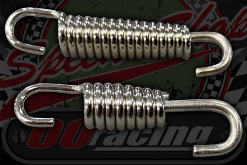 Spring. Fixed one end swivel other  steel chrome plated 42mm or 53mm
