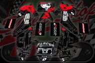 Graphics kit. CRF50. RED/Black. Star