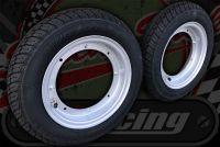 Wheel kit Steel silver rims Michelin CITY GRIP 3.50 x 10