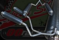 Exhaust. Kepspeed Twin artificial Carbon wrap Suitable for Monkey bike.