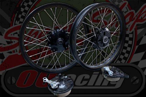 "Wheel kit 36 spoke light weight Alloy black rims 17"" x 1.85 R 17"" x  1.60 F"
