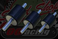Rubber. Bobbin. Anti vibration mount 5,6,8mm options male & male fitting