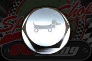 Head stock. DAX top nut CNC Alloy 22mm Hot dog logo